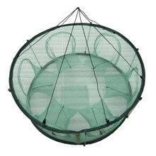 Автоматический рыболовная сеть ловушка круглой формы Прочный Открытый для крабов Раков Омаров 19ing