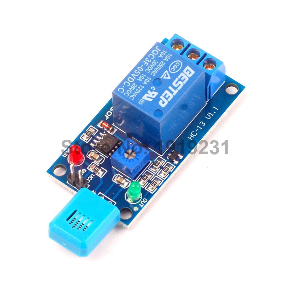 все цены на  1PCS 5V Humidity Sensitive Switch Relay Module Humidity Controller Humidity Sensor Module  онлайн