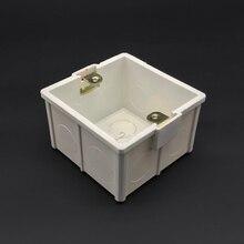 Толще материал 86 Тип домашний переключатель панель термостат настенный держатель международный стандарт кассета темная Монтажная коробка