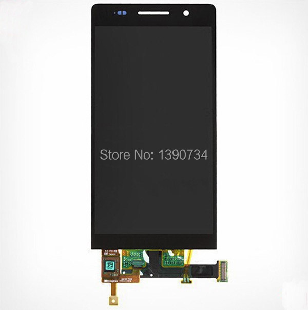 Black/White FULL Touch Screen Digitizer Glass + LCD Display Panel Assembly For Huawei Ascend P6 Replacement Parts Free shipping  top quality full lcd display touch screen digitizer assembly for huawei ascend w1 u00 c00 w1 replacement white