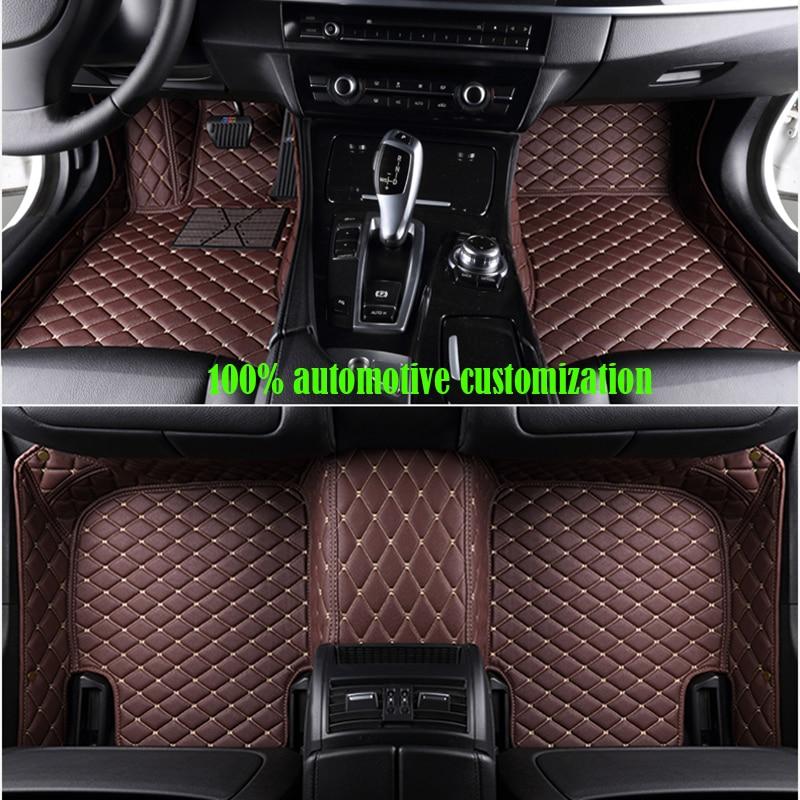 XWSN custom car floor mats for skoda kodiaq skoda superb 2 3 2013-2018 rapid karoq Octavia Auto accessories car mats набор автомобильный auto premium skoda 67368