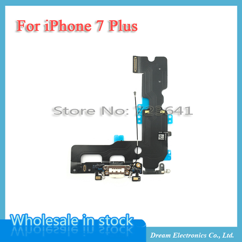 Image 5 - MXHOBIC 10pcs/lot USB Charging Charger Port Dock Connector Flex Cable For iPhone 7 7G Plus 7P Audio Microphone Replacementconnector flex cableflex cabledock connector -
