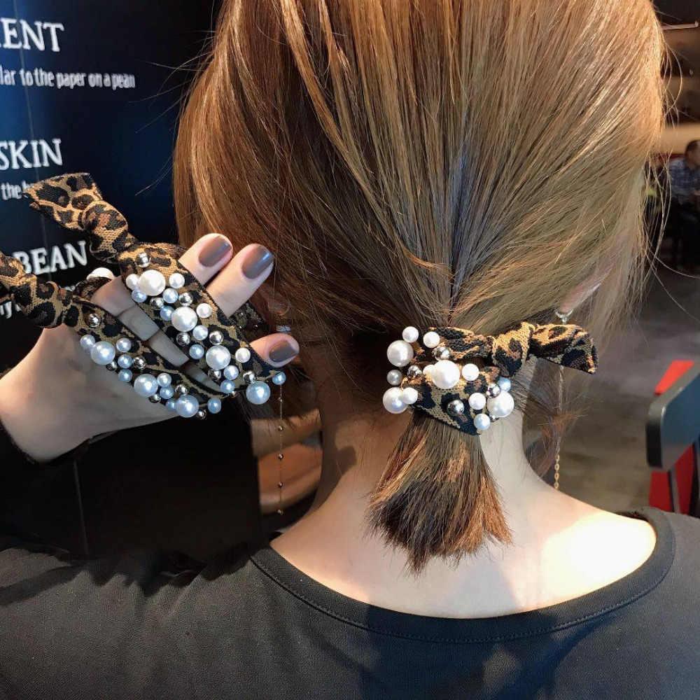 """2 шт./партия женские аксессуары для волос радужные бусины повязка для волос """"конский хвост"""" держатель для девочек Винтажные эластичные резинки для волос Очелье"""