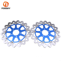 POSSBAY Motorcycle Front Brake Disc Brake Rotors Fit For Suzuki GSXR 1300 Hayabusa 1999 2007 TL1000S