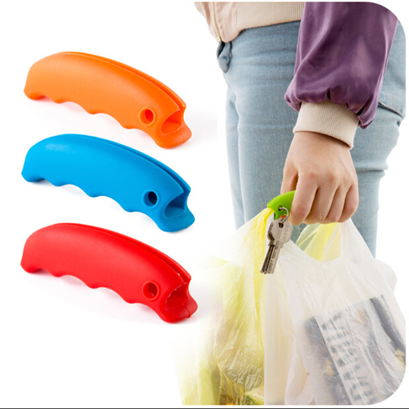 New Candy Color Shopping Bag Hanging Mention Dish Carry Bags Save Effort Shopping Bag Clip Comfortable Carry Handle