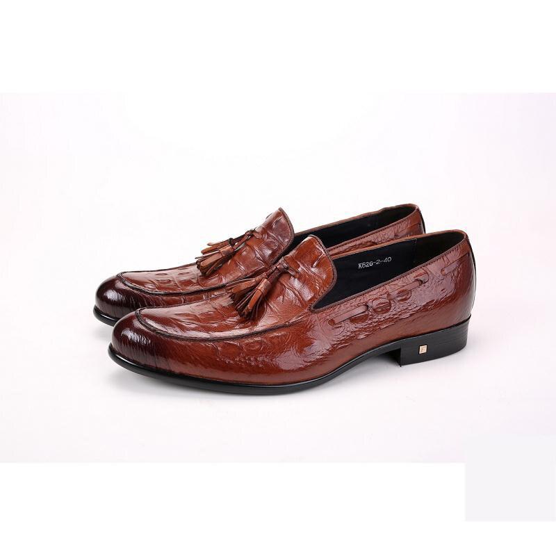 De Desgaste Dos Marca 2019 Do vermelho Genuíno Shoes Masculino Pele Couro Crocodilo Negócios Mycoron Formal Preto Botas Vinho marrom Luxo Calcados Casamento Homens EqSPC