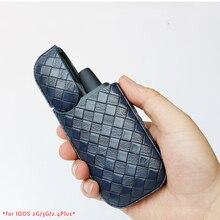 Роскошные сумки для IQOS 2G 3g 2,4 Plus кожаный Тканый дизайн высокого класса на заказ защитный чехол для IQOS Jazz Blue