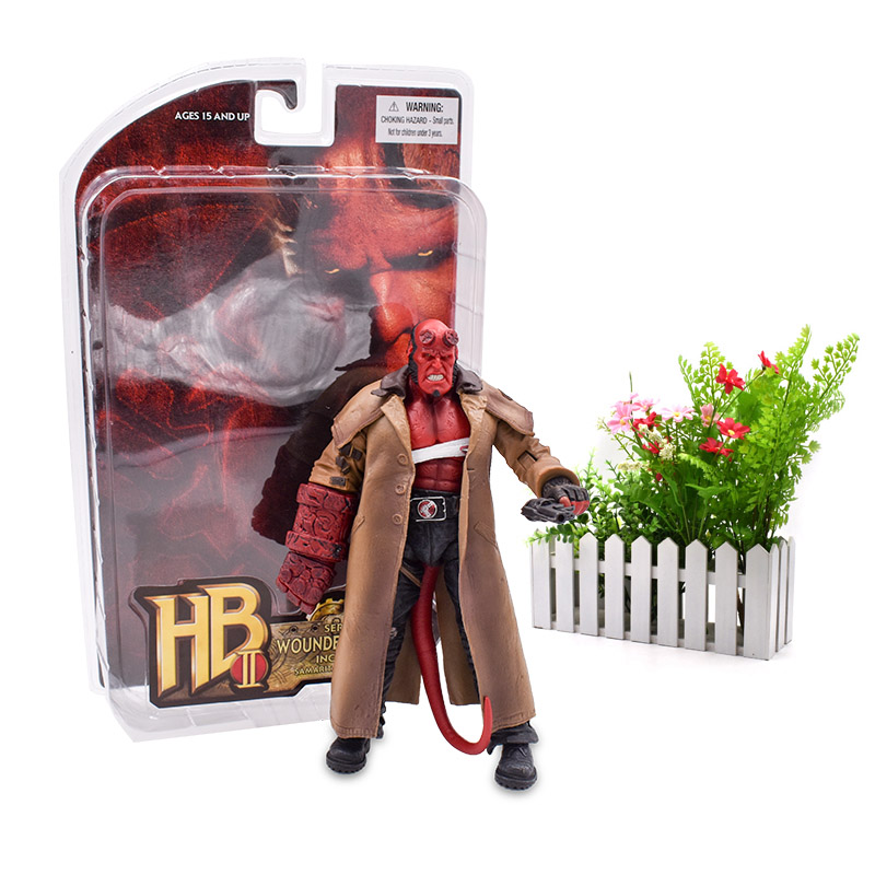 18 cm HB 2# Series 2 Wounded Hellboy PVC Action Figure Collection Model Doll Hot Toy Christmas Gift For Children 20cm 7 hellboy action figure wounded hellboy includes samaritan handgun cool hb collectible model toy