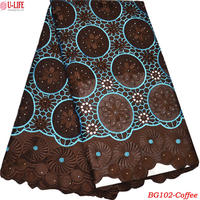 African Swiss Voile Lace In Switzerland 100 Cotton Lace Trim With Rhinestones Wholesale Eyelet Circle Big