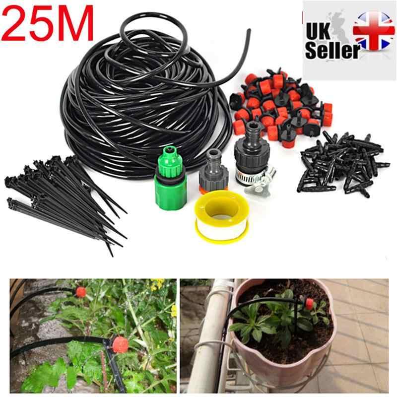 WINOMO 25 м Сад капельного орошения Системы 30-Dripper полива растений Системы DIY для сада пейзаж цветник патио растений