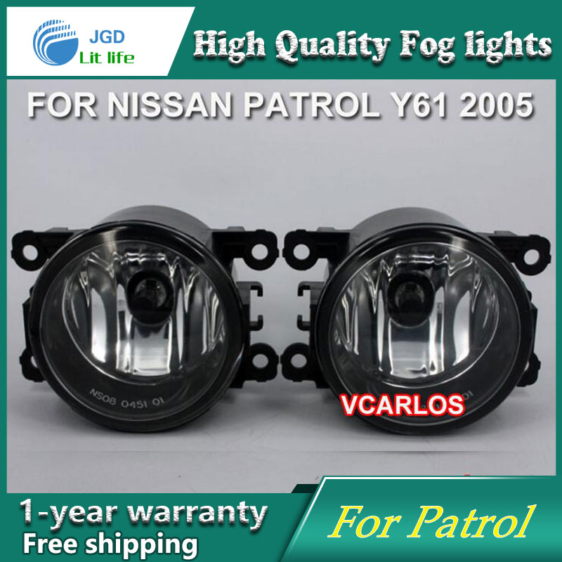 2PCS / Pair Halogen Fog Light For Nissan Patrol 2005 High Power Halogen Fog Lamp Auto DRL Lighting Halogen Headlamp for nissan patrol y62 armada accessories original design fog lamp with chrome fog light cover