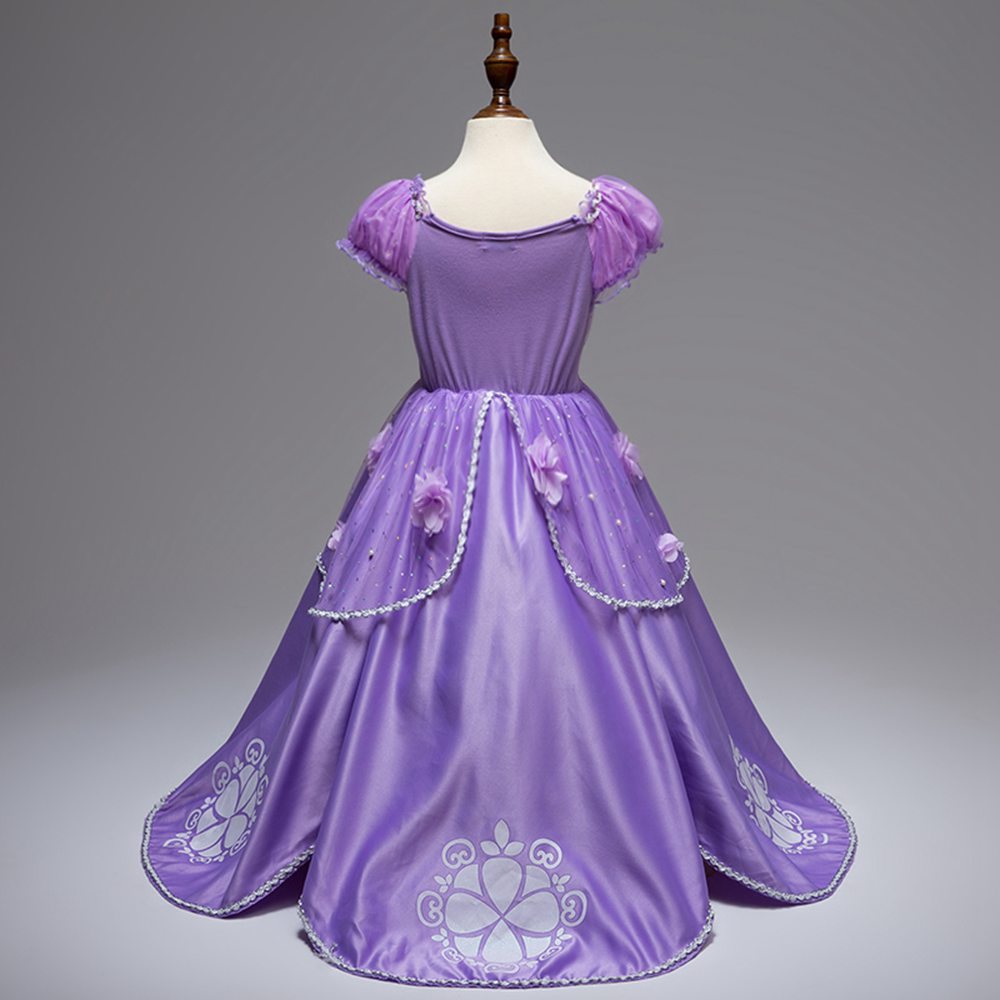 Kids Halloween Costume Girl Sofia The First Cosplay Princess Party Fancy Dress