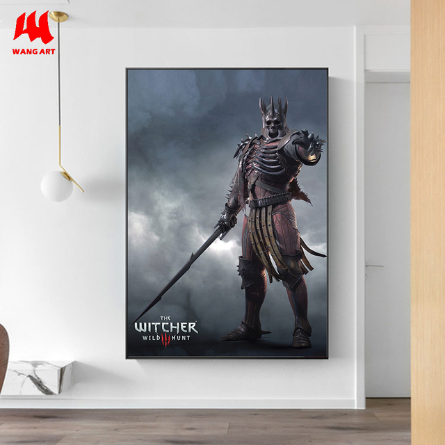 WANGART the Witcher 3 Canvas Print Hunting Wild Game Cirilla Geralt Wall Pictures for Living Room Modern Home Decor JY617-625 3