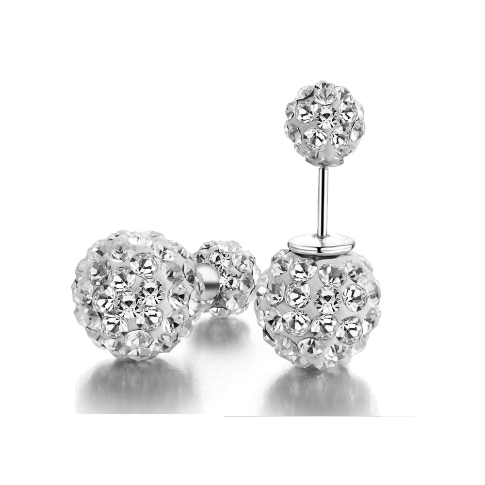 Double Sided Crystal 925 Sterling Silver Studs Tribal Earrings In Stud From Jewelry Accessories On Aliexpress Alibaba Group