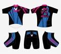 Men & Women Anime OW D.va Bike Riding Short Sleeve Outfits Sports Wear Tights Set Cycling Jersey Shirt Clothing+ Shorts Pants