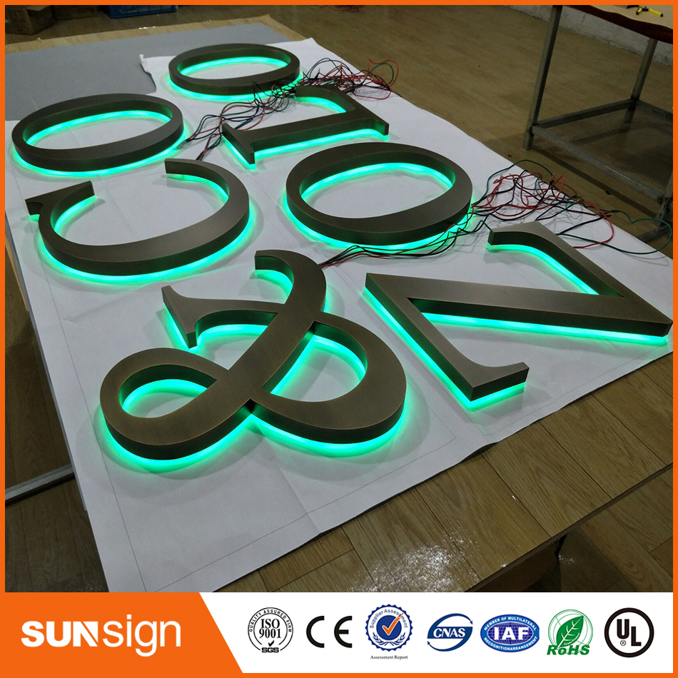 Factoy Outlet Outdoor Fine Workmanship Stainless Steel Letters Sign