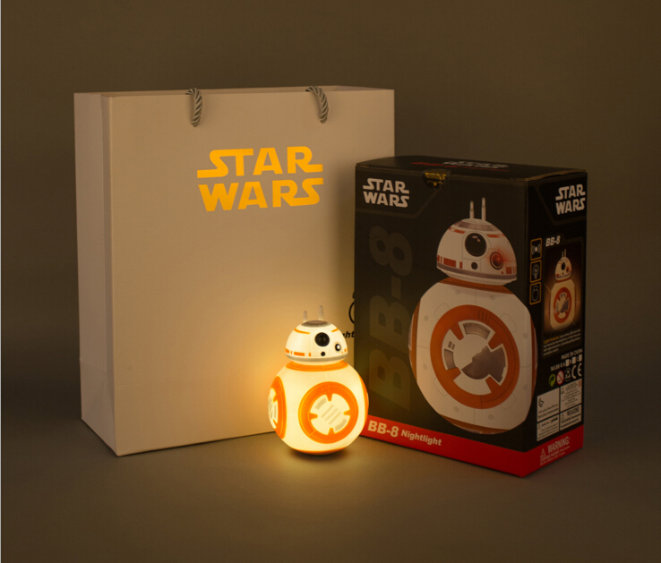 Star Wars The Force Awakens BB8 BB-8 Night light Eyecare USB Charging Droid Robot Model <font><b>Action</b></font> Figure Toy