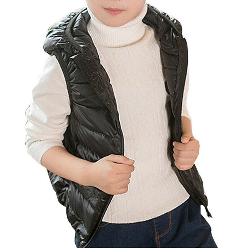 2-7 T Baby Vest Parkas Kids Girl Boy Waistcoat Winter Down Jacket Feather Warm Children Vest Clothes 2017 fashion boy winter down jackets children coats warm baby cotton parkas kids outerwears for
