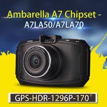 Coche DVR de Ambarella A7 GS90C/GS90A/G90 Cámara Del Coche 1296 P FullHD DVR grabadora con GPS Dash Cam 170 Grados Ángulo de Visión Nocturna lente