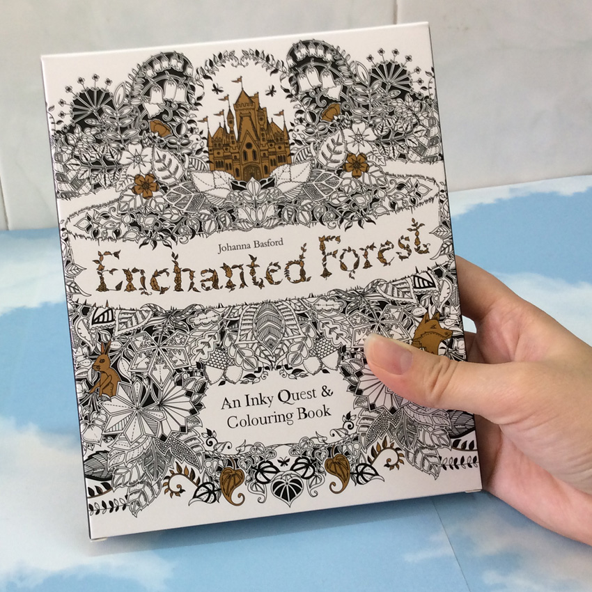 English Edition Enchanted Forest 30 Sheets Cards Coloring Books For Adults children with Postcards Painting Drawing CardsEnglish Edition Enchanted Forest 30 Sheets Cards Coloring Books For Adults children with Postcards Painting Drawing Cards