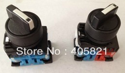 1N/O+1N/C Standard Handle Knob 3Position Select Selector Switch AR22PR-3-11B Mouting Hole 22mm