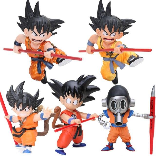 8-18 cm Akira Toriyama Infância Ver Son Goku De Dragon Ball Z Goku PVC Action Figure Collectible Modelo Toy boneca Dragonball Figuren