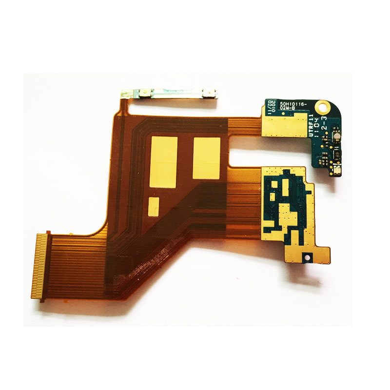 Original Ribbon With Side Button Membrane Volume Camera Main Flex Cable For <font><b>HTC</b></font> <font><b>HD2</b></font> <font><b>T8585</b></font> image