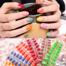 Candy color 24PCS /set  finished false nails,short paragraph full Nail tips patch,DIY art tools 25 styles to choose from