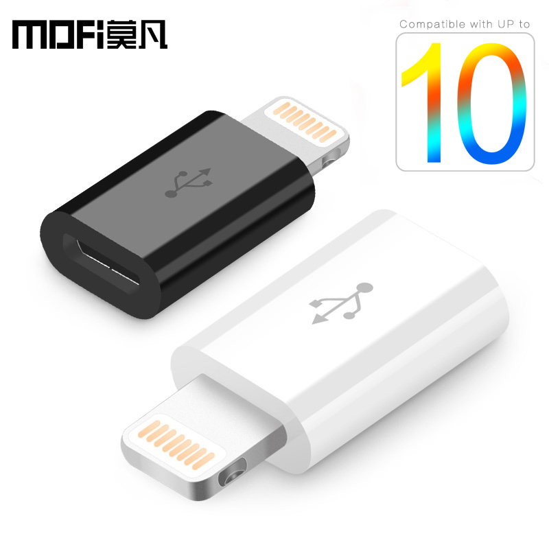 MOFi android micro usb male to lightning 8 pin for iPhone adapter 7 iPad 4  5 5s 6 plus mini Air iOS charging cable fast short