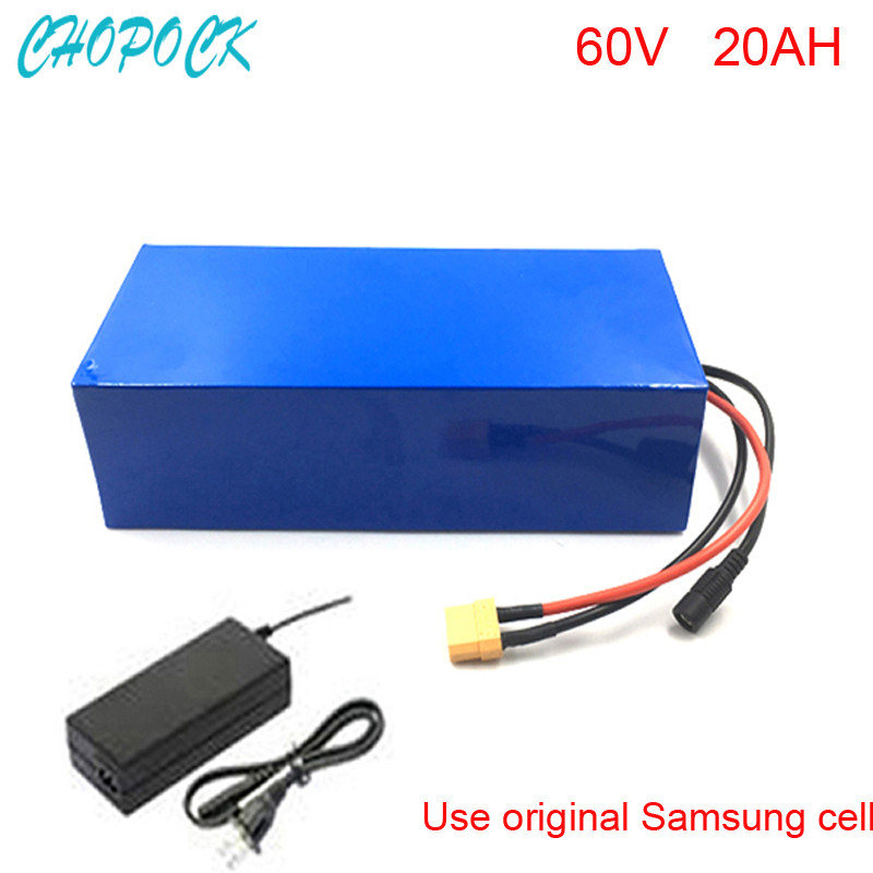 60V 20AH Electric Bicycle Lithium Battery Scooter 60V 500W 1000W 2000W Battery Lithium-ion ebike battery pack For Samsung cell 72v 3000w lithium ion battery pack for scooter e motorcycle electric bike