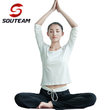 SOUTEAM  Brand Yoga Clothes Women's Running Sets Woman Sport Suit Yoga Top & Pants Yoga Set Women Sportswear #S150020-WHITE