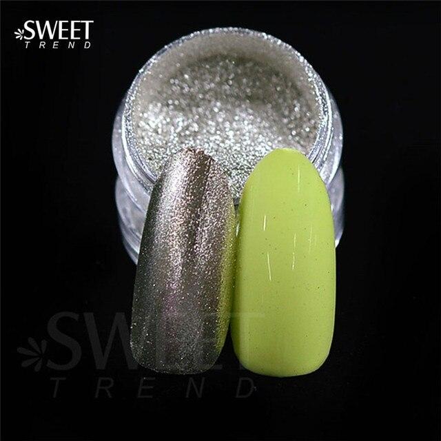 1g plata espejo mágico Polvos de maquillaje Chrome reflexivo uñas ...