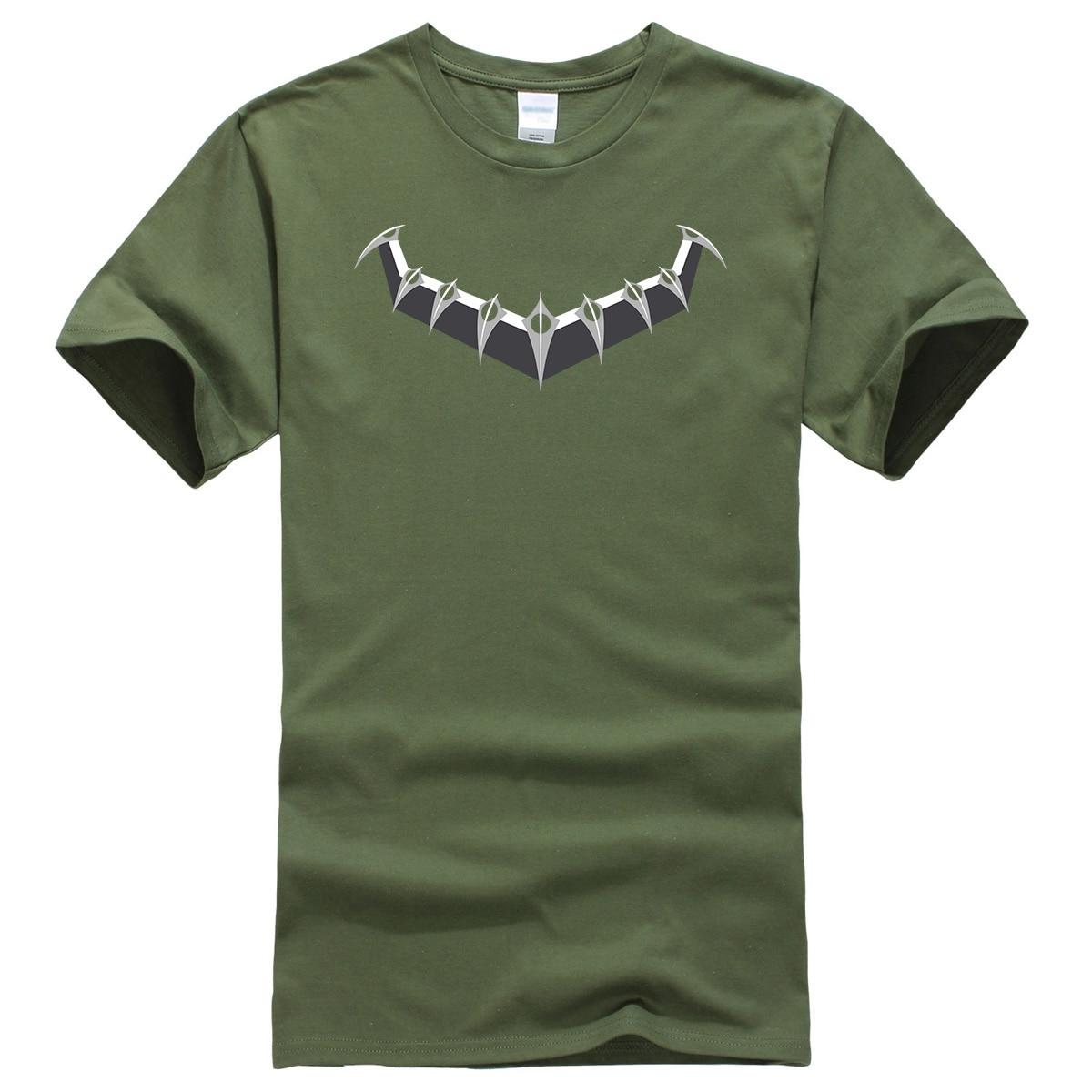 New Fashion 2019 Hot Summer Man's T-shirt Black Panther Top T Shirt Men Superhero Hop Hop Tshirt Streetwear Tops Men's T-shirts