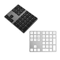 Aluminium bezprzewodowy Klawiatura numeryczna BT Pad 34 klucze zewnętrzny numer klawiatura skrót Bluetooth mini klawiatur