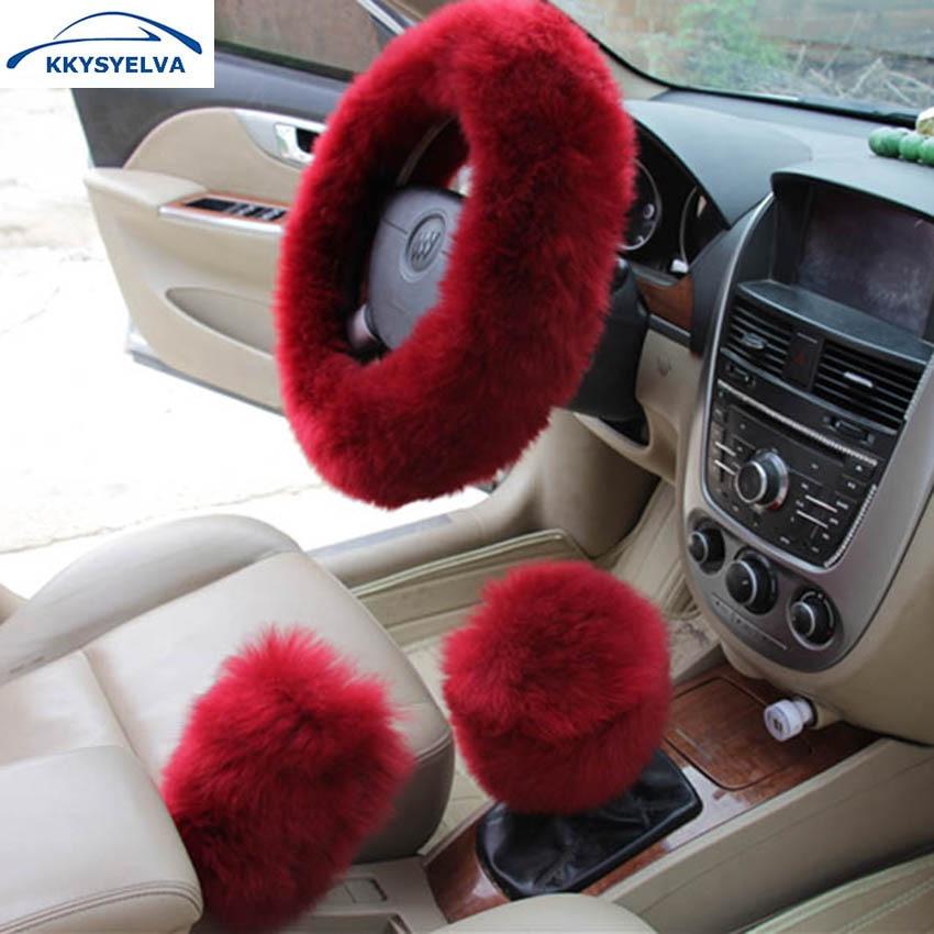 KKYSYELVA Piel cubiertas del volante del coche Invierno climatizada - Accesorios de interior de coche - foto 1