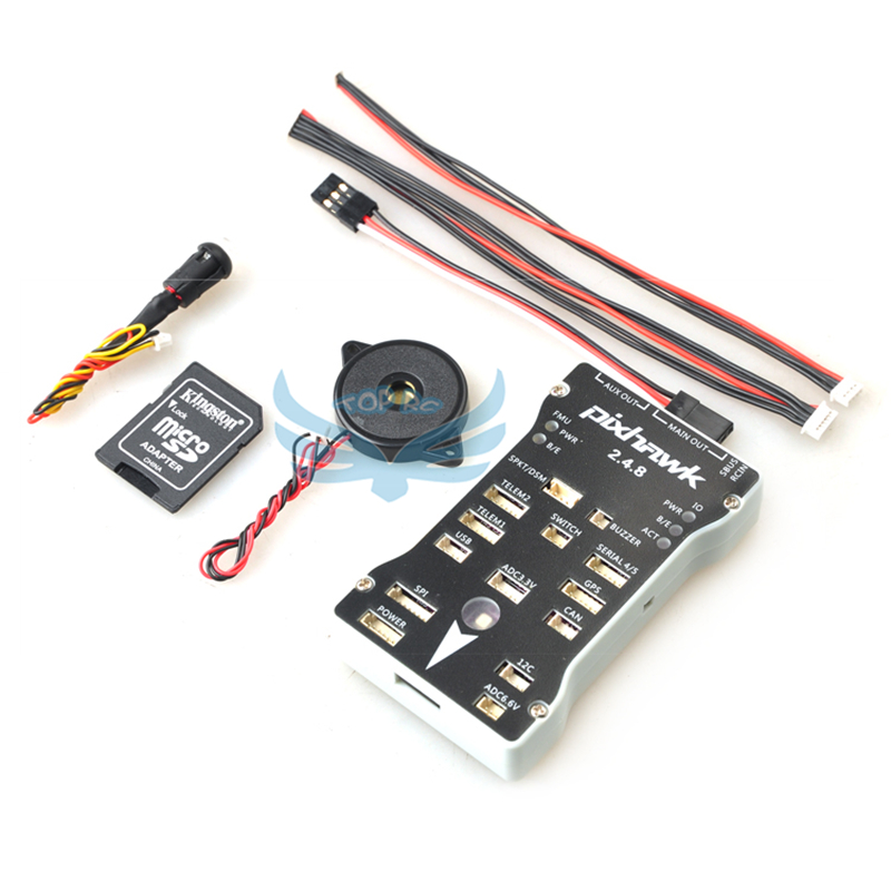 Pixhawk PX4 Autopilot PIX 2.4.8 32 Bit Flight Controller with Safety Switch Buzzer for RC Quadcopter Multicopter FPV Photography gold plated socket pixhawk px4 autopilot pix 2 4 5 32 bit arm flight controller for rc multicopter