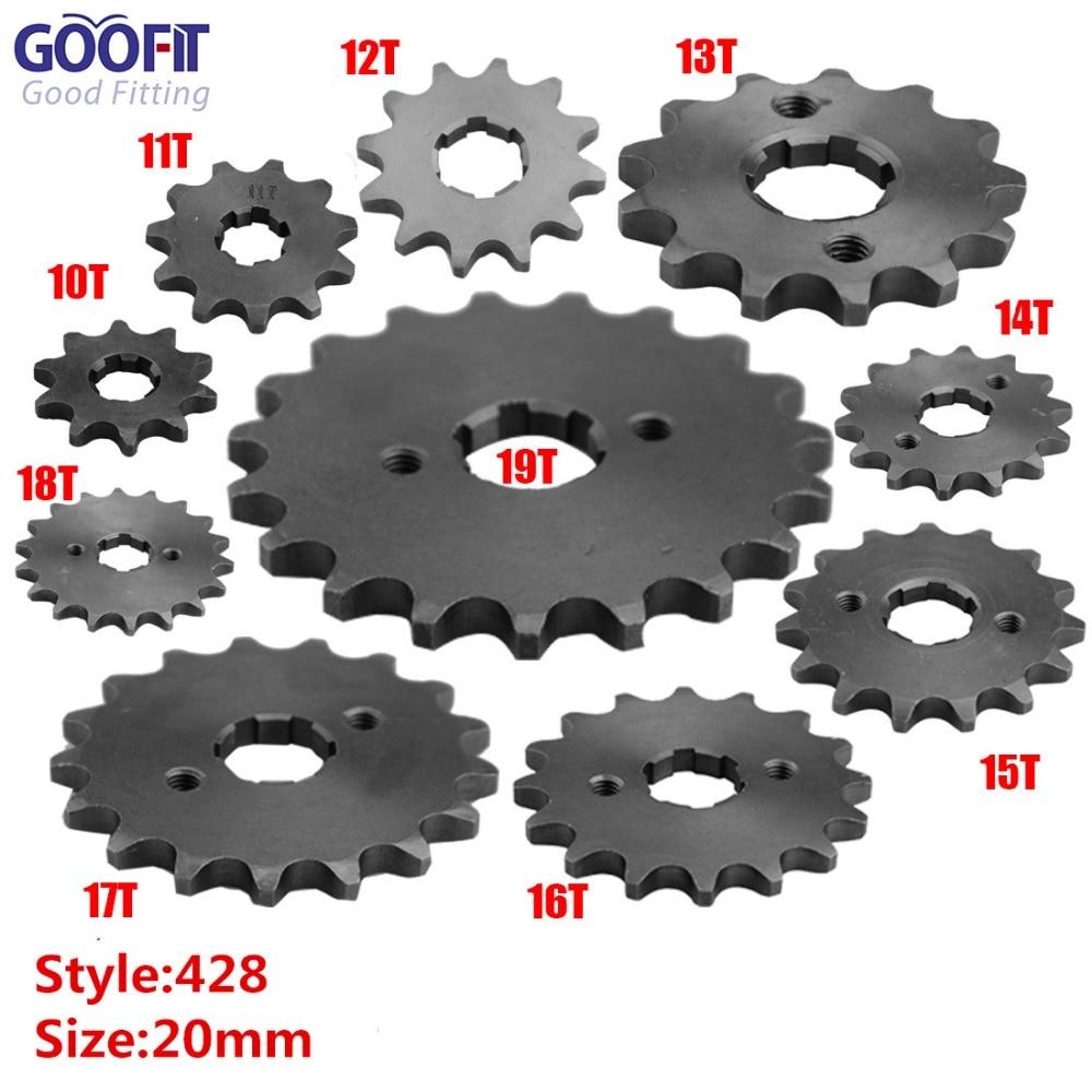GOOFIT 20mm Sprocket Front for Motorcycle ATV Dirt Bike 420-16T