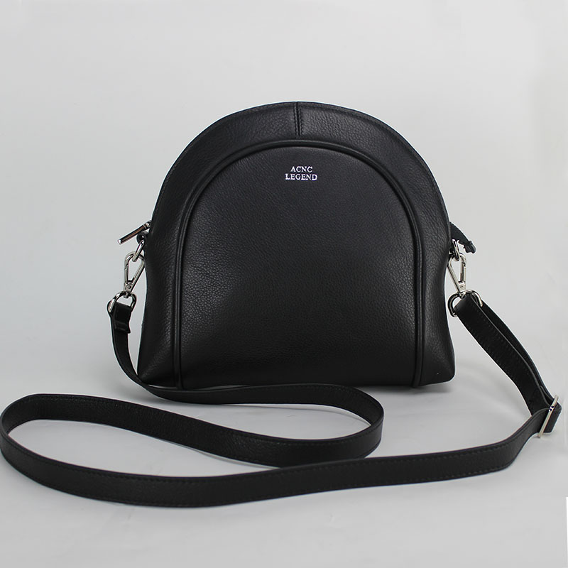 ФОТО ACNC LEGEND  first layer of leather shell bag British style shoulder bag Messenger Bag Black Free shipping