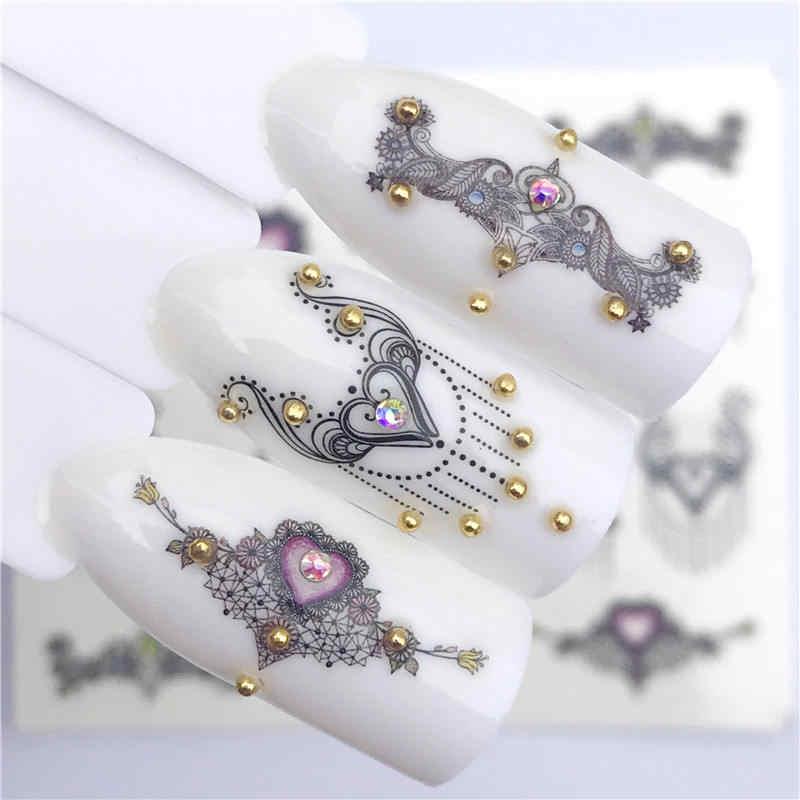 YWK 2019 NEUE Designs Wolf/Vintage/Flamingo Edle Halskette Designs Für Nail art Wasserzeichen Tattoo Dekorationen