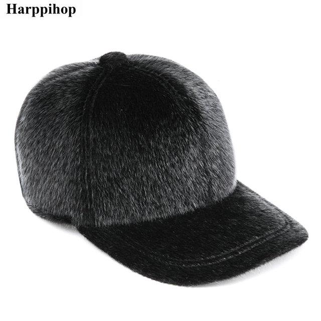 Tela de visón imitación sombrero gorra de béisbol de otoño e invierno moda casual con sombrero caliente