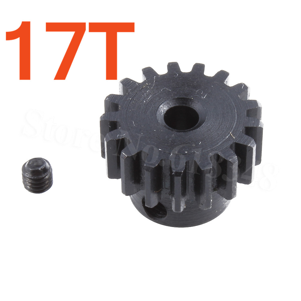 3.175mm 17T Motor Pinion Gear for 1:12 Wltoys 12428 12423 RC Car Accessories