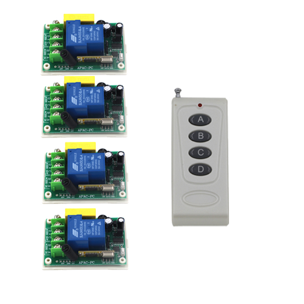 Free Shipping AC220V 30A 3000W RF Wireless Remote Control Switch and remote System For Home light Smart Control SKU: 5518 ac220v 30a 1000m 1 channel wireless remote control switch 3000w high power relay 15 receiver for water pump sku 5512