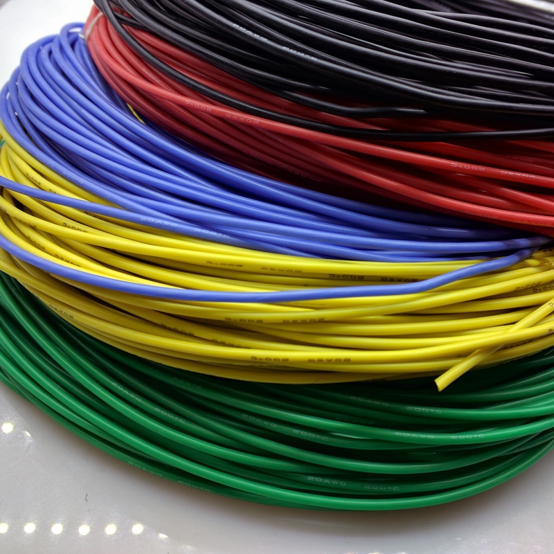 20AWG soft high temperature silicone wire 0.08mmx100 core wire High Temperature Tinned copper UL VW-1 20awg soft flexible silicone wire black red 100cm 2 pcs