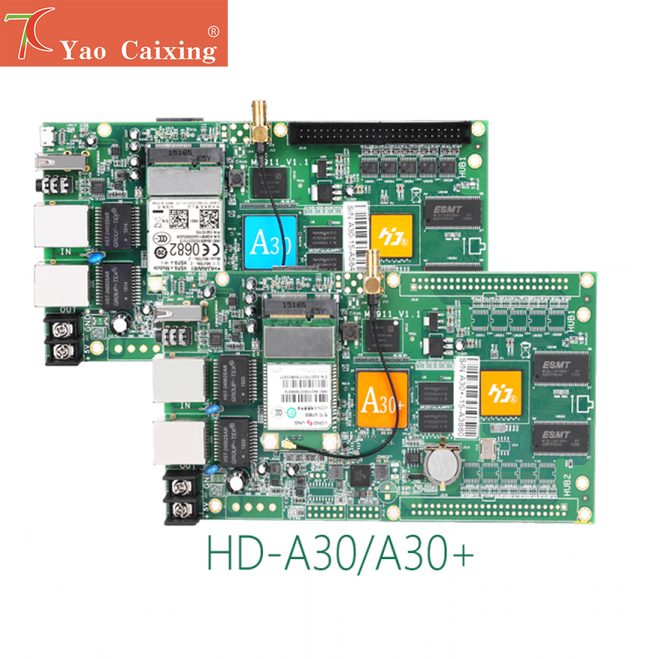 HD-A30 Controller With Wifi Rj45 Usb Asynchronous Control Card P2 P2.5 P3 P4 P5 P6 P8 P10 Rgb Full Color Led Screen