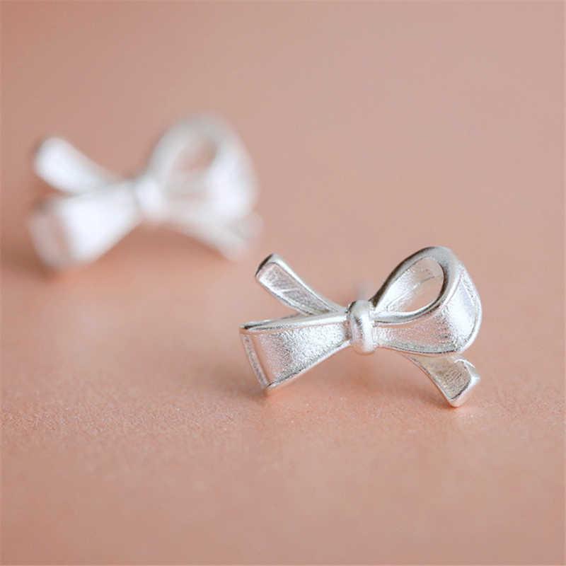 2018 nouveau 925 en argent Sterling Bowknot boucles d'oreilles pour les femmes de mode bijoux Boucle D'oreille Pendientes Mujer EH652