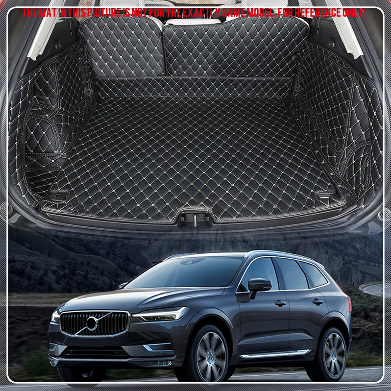 For VOLVO XC60 2018 Customs Car Rear Trunk Cargo Boot Mat Carpets Leather Trunk Mats Pads Auto accessories Car Styling for mazda cx 5 cx5 2017 2018 leather car interior rear boot cargo trunk mat pad 1set car styling accessories