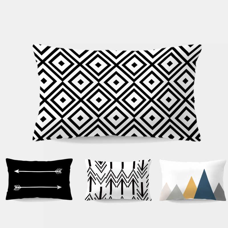 Diamond Black And White Cushion Pillow