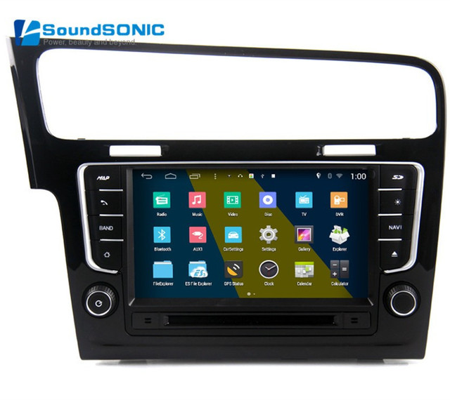 pour volkswagen golf 7 mk7 android 4 4 autoradio gps navigation nav multim dia de voiture. Black Bedroom Furniture Sets. Home Design Ideas
