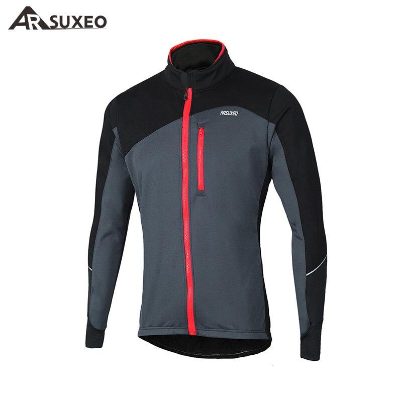 ARSUXEO veste de cyclisme hiver thermique polaire échauffement vtt vélo veste Cycle coupe-vent imperméable réfléchissant vélo manteau