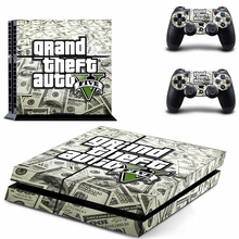 New Grand Theft Auto V Gta 5 Ps4 Skin Sticker Decal Vinyl For Sony Ps4 Playstation 4 Console + 2 Controllers Stickers
